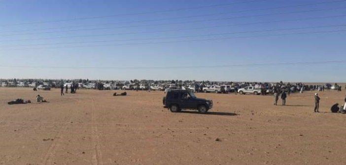 Vue de Chegatt, la zone aurifère jouxtant la frontière Algérienne
