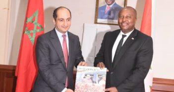 Mohamed Methqal, Ambassadeur-Directeur Général de l'Agence marocaine de coopération internationale (AMCI) et l'ambassadeur Albert Shingiro, chef de la diplomatie burundaise