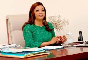 Reckya Madougou, ancienne garde des sceaux et ministre des Droits de l'Homme du Bénin