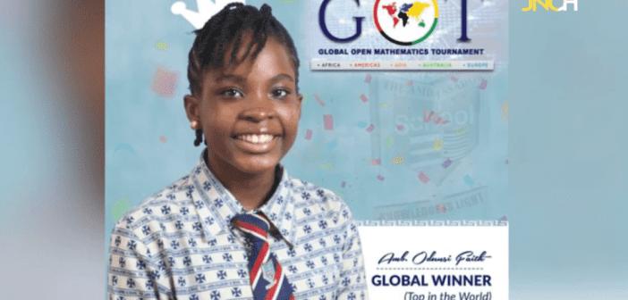 Faith Odunsi, championne du monde au concours des mathématiques