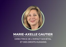 Marie-Axelle Gautier,Directrice de l'Impact Sociétal et des Droits Humains et Co-presidente de WoMen@eramet