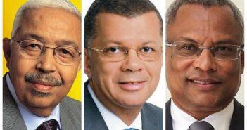 De gauche à droite Pedro Pires ancien Premier ministre du Cap Vert, Carlos Veiga et José Maria Neves
